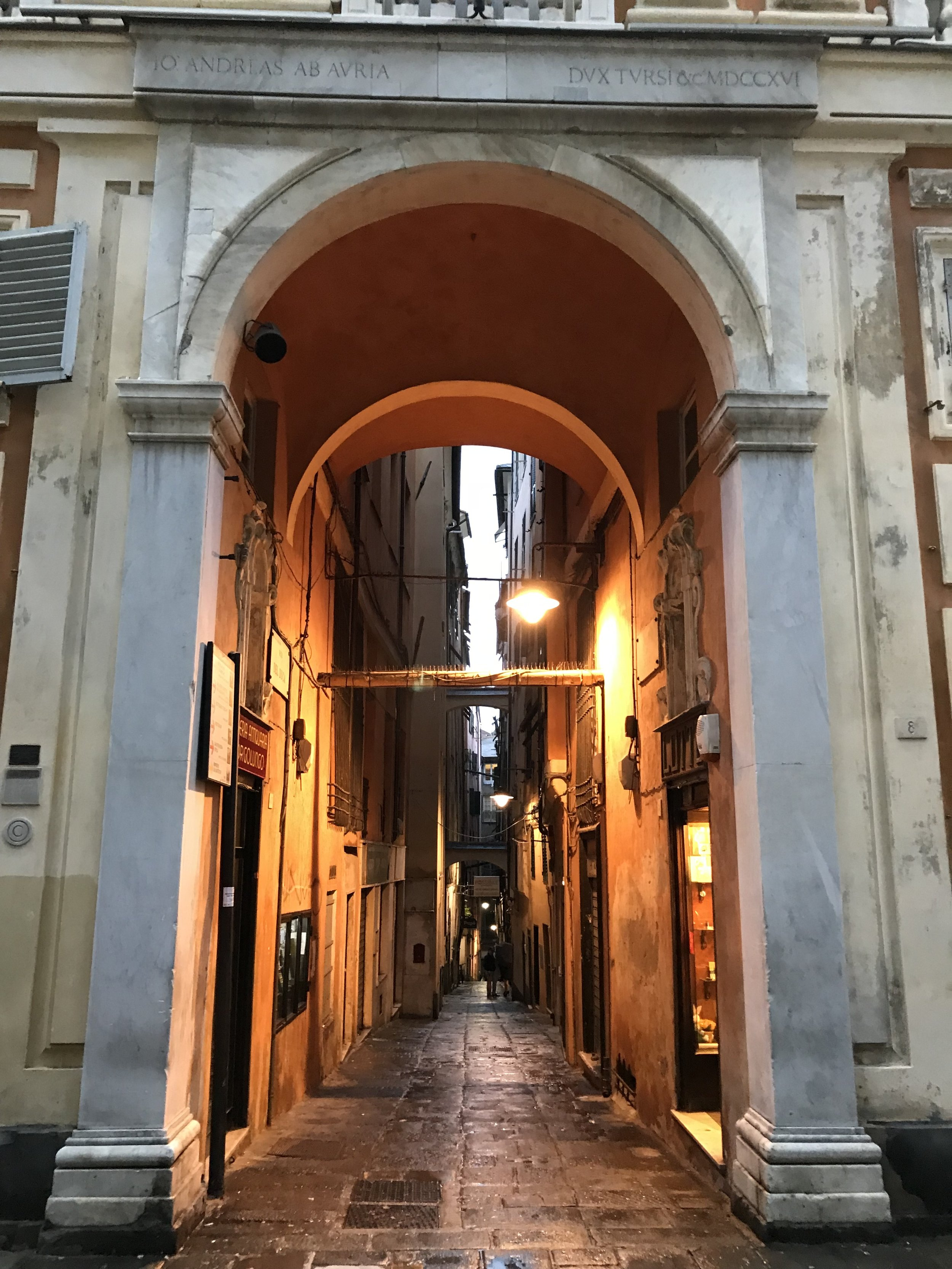 A typical street in Genoa's historical center, you can spend the whole day walking around these