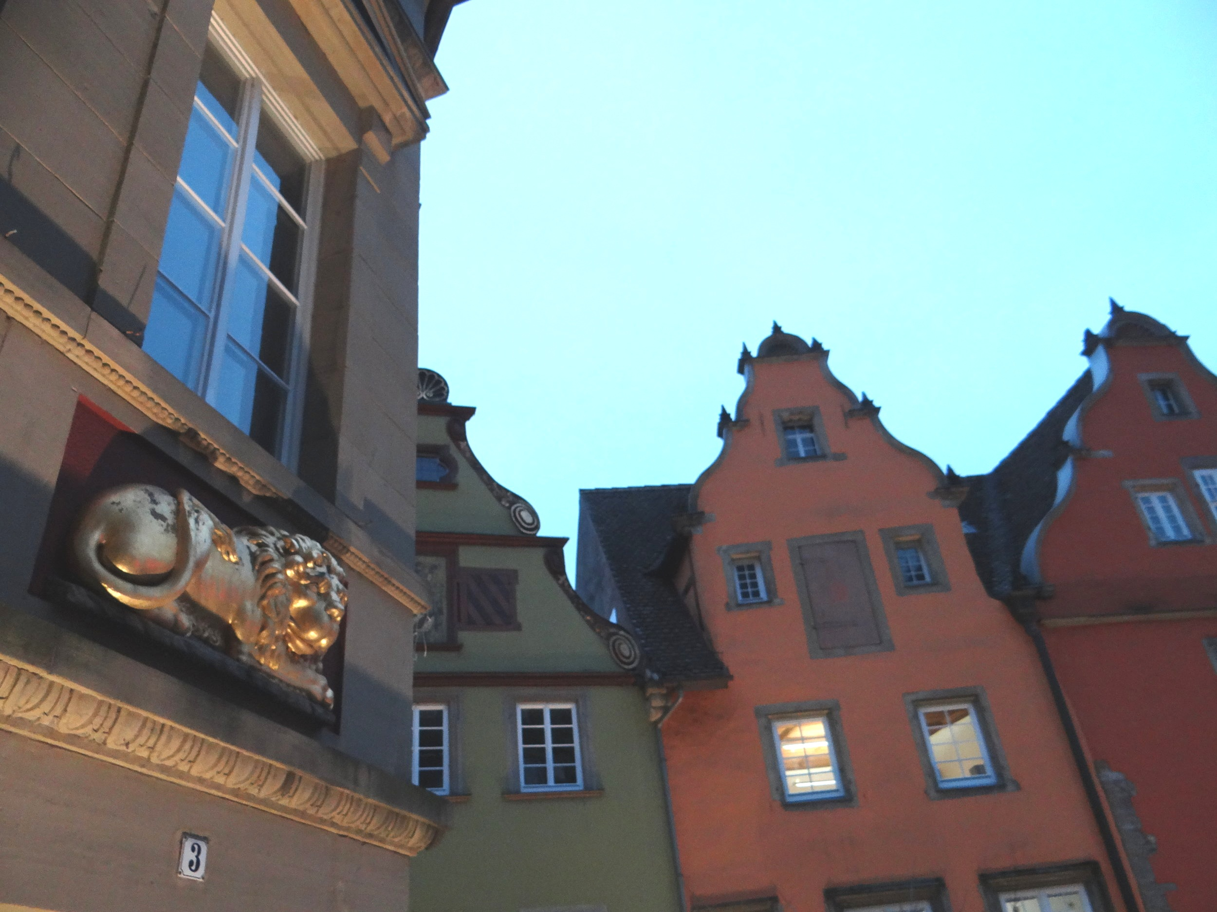 There are quite a few remarkable houses around the Marktplatz and, as you can see here, not all of them are timber-framed!