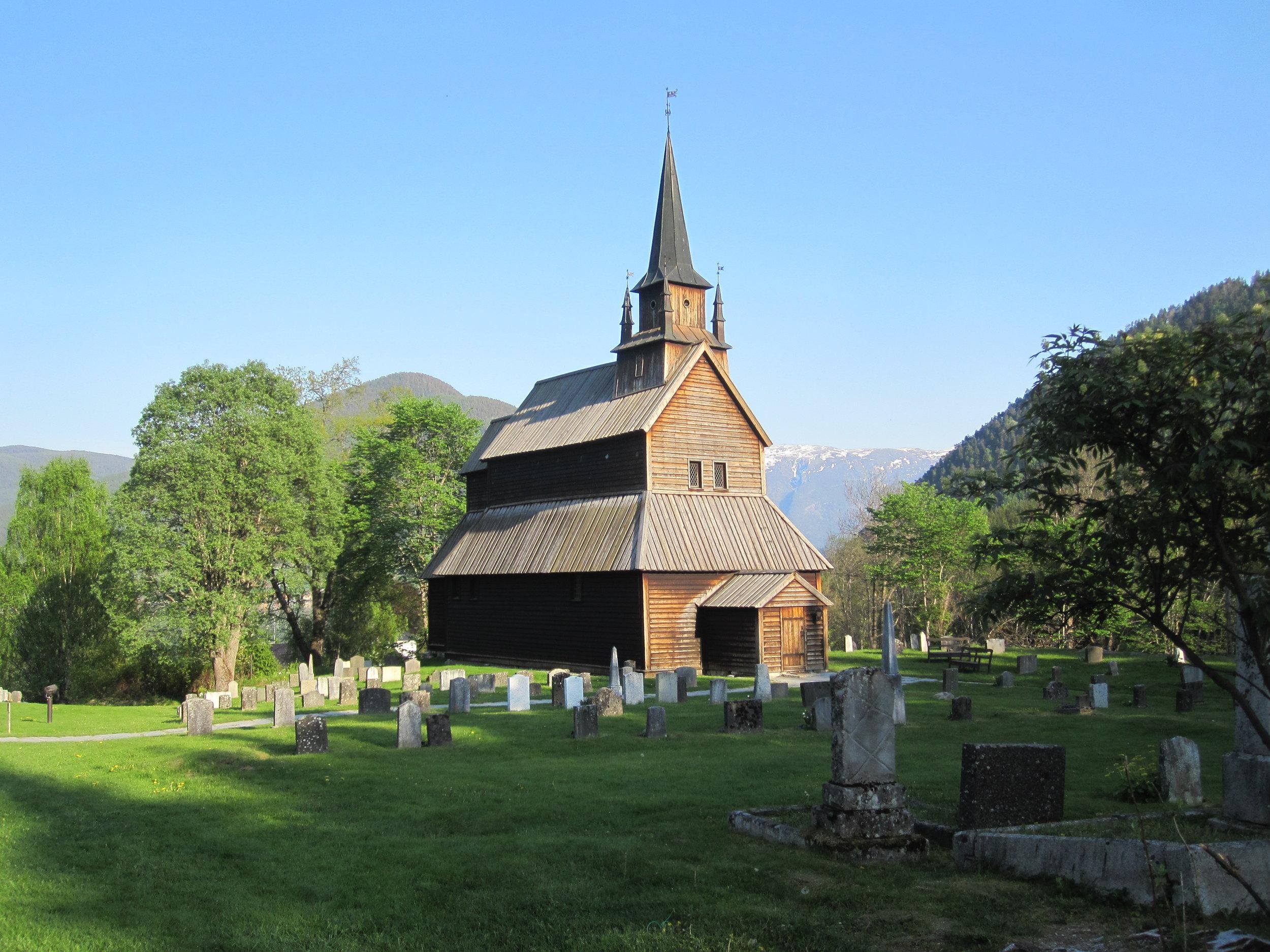 Kaupanger stave church, near Sogndal