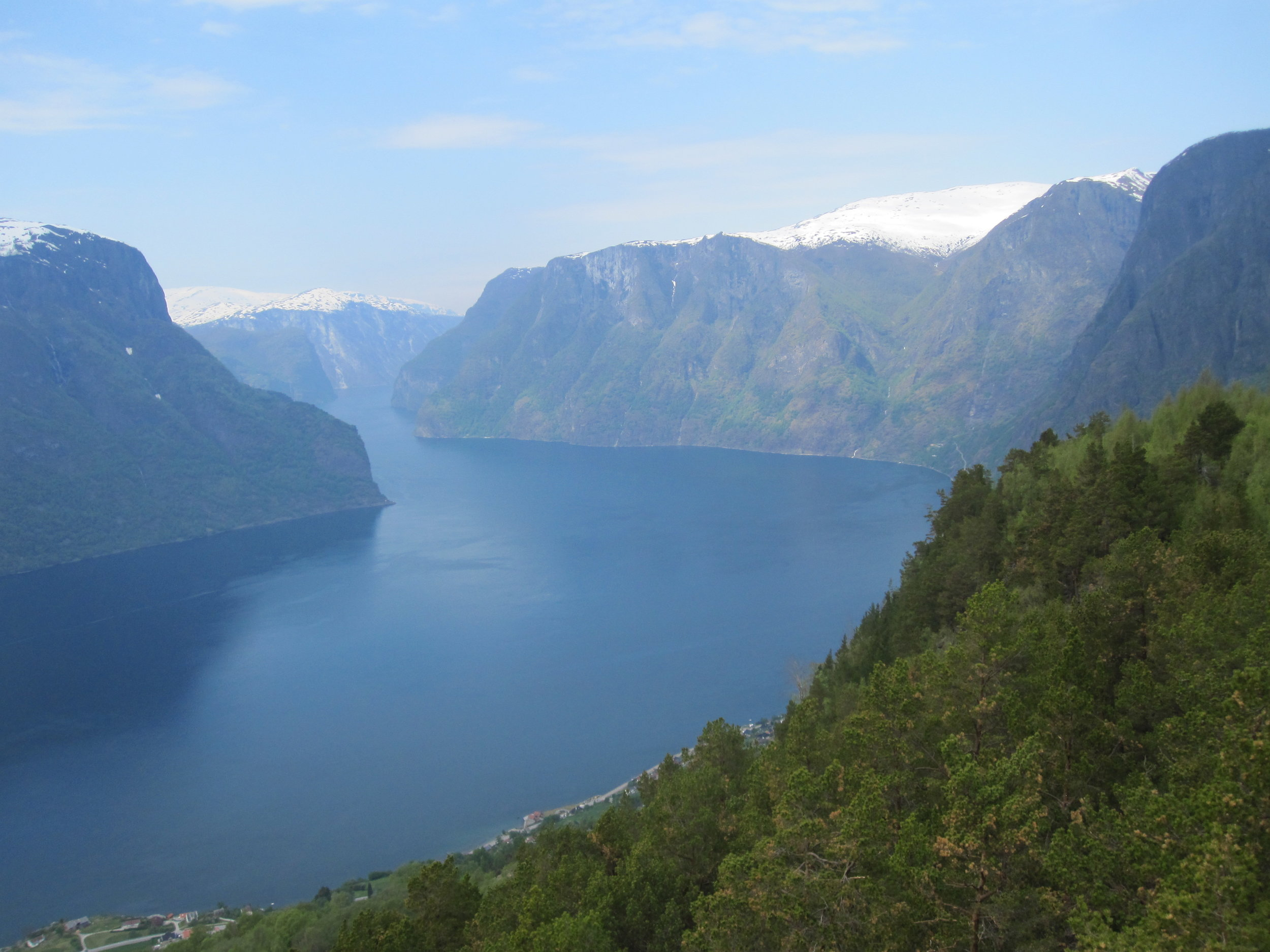 Aurlandsfjord from a vantage point