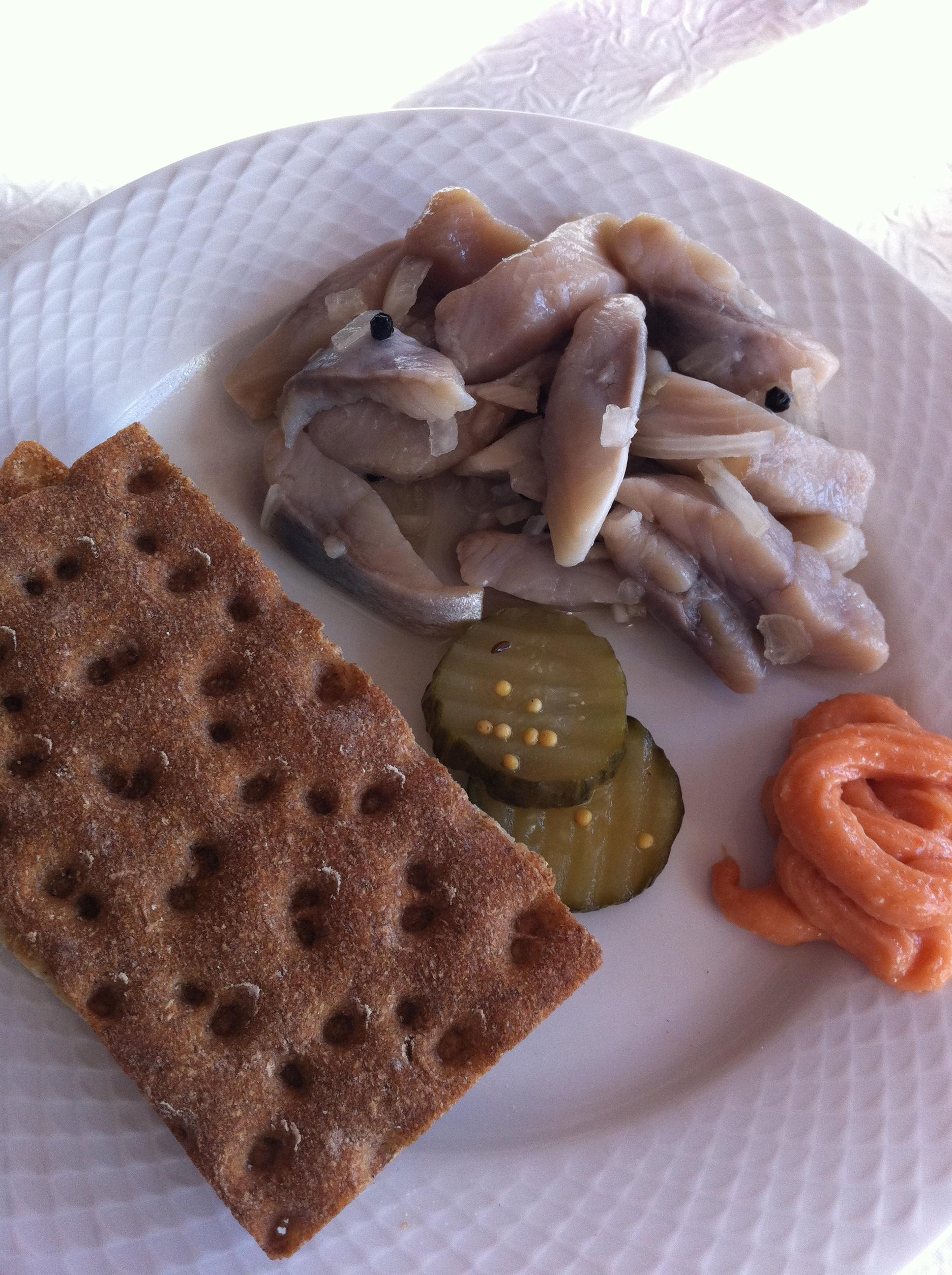 A traditional Norwegian breakfast
