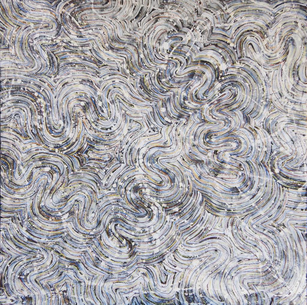 "Trace  • pastel, acrylic on hardboard • 48 x 48"" • 2014"