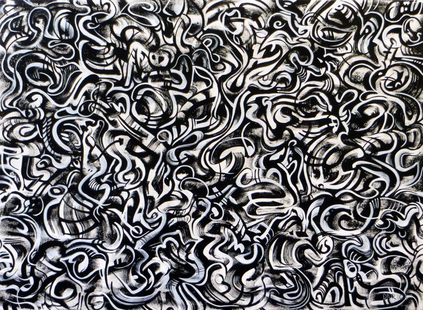 Flame  • acrylic on hardboard • 31 x 42 inches • 2014 ©2015 Darick Ritter