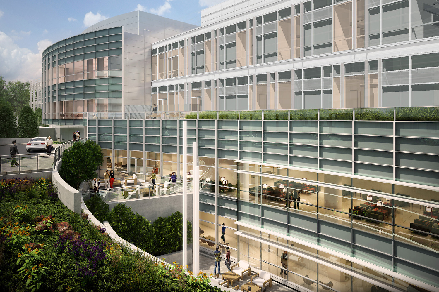 Marin General Hospital - This project comprised a new 294,000 sq ft Acute Care building, a 80,000 sq ft Ambulatory Service building, and a parking garage.Owner: Marin Healthcare DistrictArchitect: Perkins EastmanGC: McCarthyOur Scope: Acoustical ceiling model