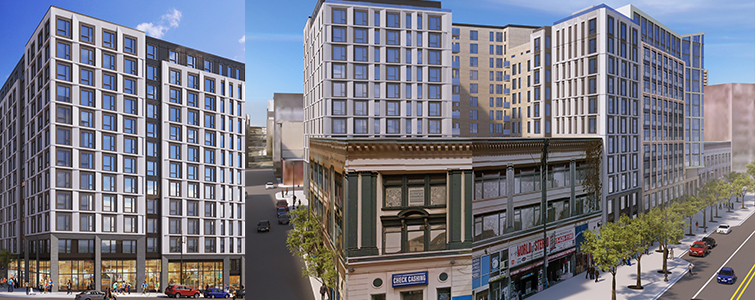 1066 Market St - Located in San Francisco's Mid-Market neighborhood, this 12-story apartment building offers 303 apartments and 4,430 sq ft retail space.Owner: Shorenstein Residential LLCArchitect: Solomon Cordwell BuenzGC: SwinertonFramer: Raymond GroupOur Scope: Shop drawings