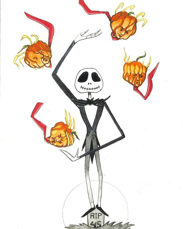 Jack Skellington #halloween #halloweenfilms #jackskellington #thenightmarebeforechristmas #impeachtrump #canthisinsanityend #christopherolsonartdotcom #seattleartist