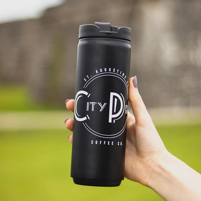 "Don't miss out on our ""going green"" promotion! Buy a reusable travel tumbler - and get it filled for free! Get the last few before they're gone!"