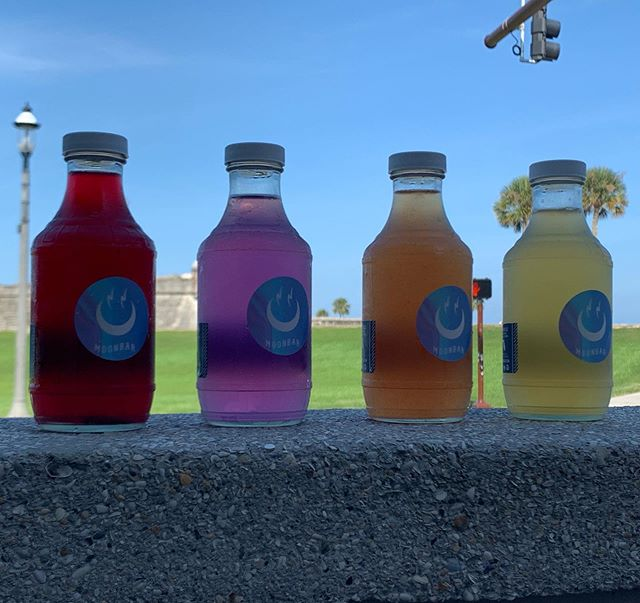 Stop by and check out this weeks booch from @moonbooch! Blueberry Mint, Butterfly Pea Flower, Watermelon, and honey Chamomile!  Grab one before they're gone! 🍻