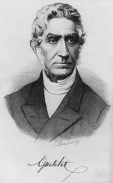 Lambert Adolphe Jacques Quételet by Joseph-Arnold Demannez
