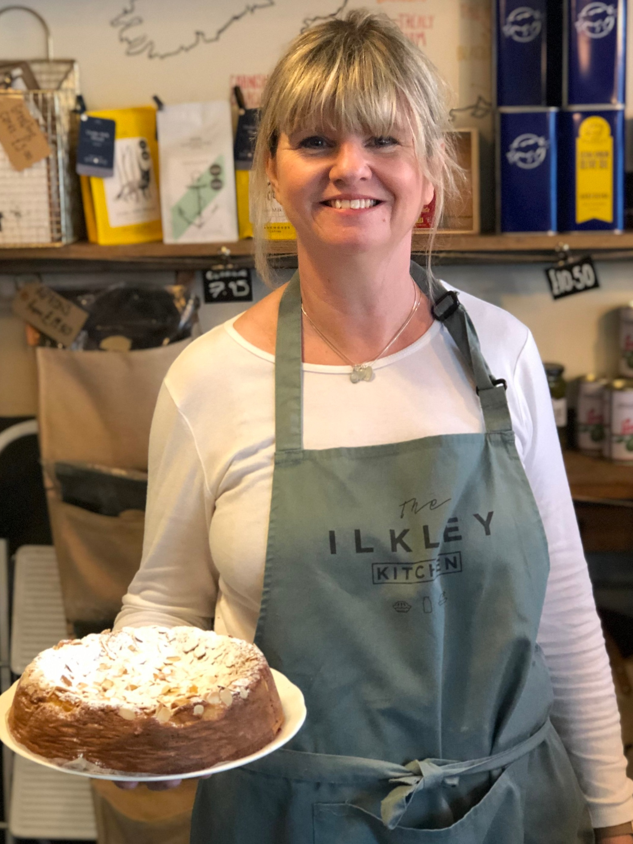 Marcella and the award-winning Orange & Almond Cake