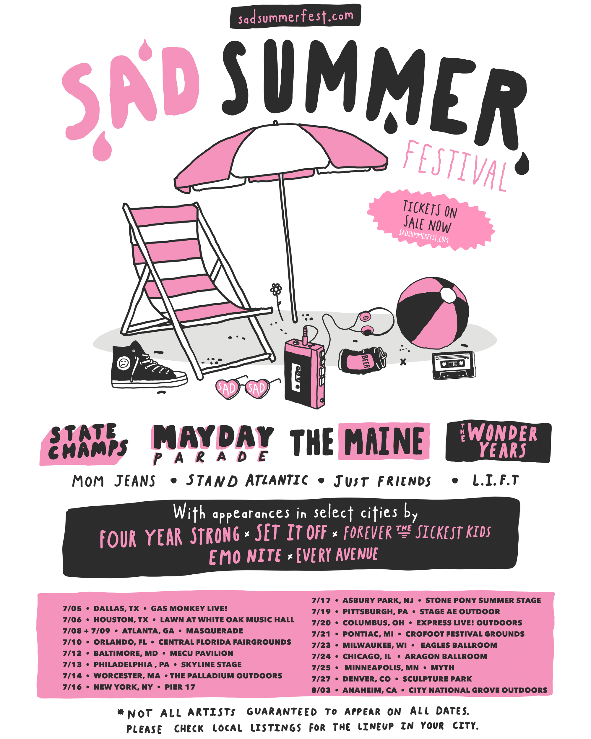 Tickets on sale now! — Sad Summer Festival