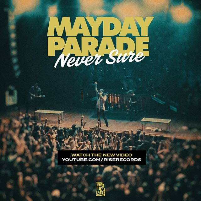 "NEW MUSIC VIDEO: Mayday Parade just dropped a brand new music video for ""Never Sure"". Who checked it out?! If not, watch it now at www.youtube.com/riserecords"