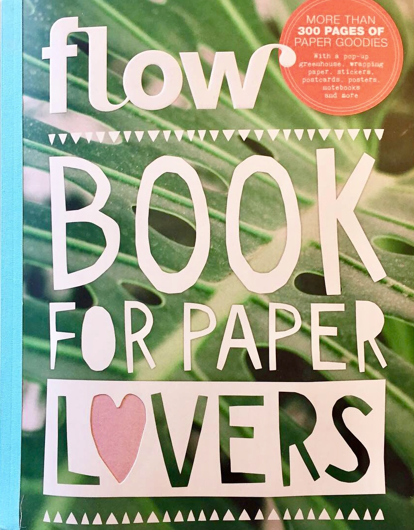 4 of my illustrations were published in this Flow Book for Paper Lovers