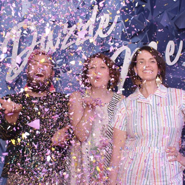 Thanks YOU for taking this ride with us!! We can't really put into words how amazing this experience has been and it's all because of the support we got from this community. We love you all the most. You truly are gems! . Photo @selfiemsp @leonetticonfetti installation @girlfridaycreative . Round of applause for our amazing artists and designers @arayajensencreative @ashleymaryart @girlfridaycreative @officialkramp @celinakane @pinklinendesigns @garborn!! You all made this a reality 💎💎💎