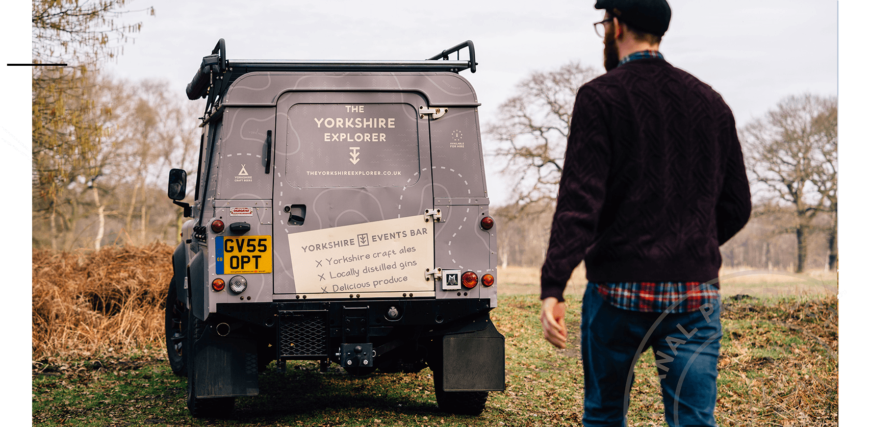 Hire our Land Rover Defender Bar -
