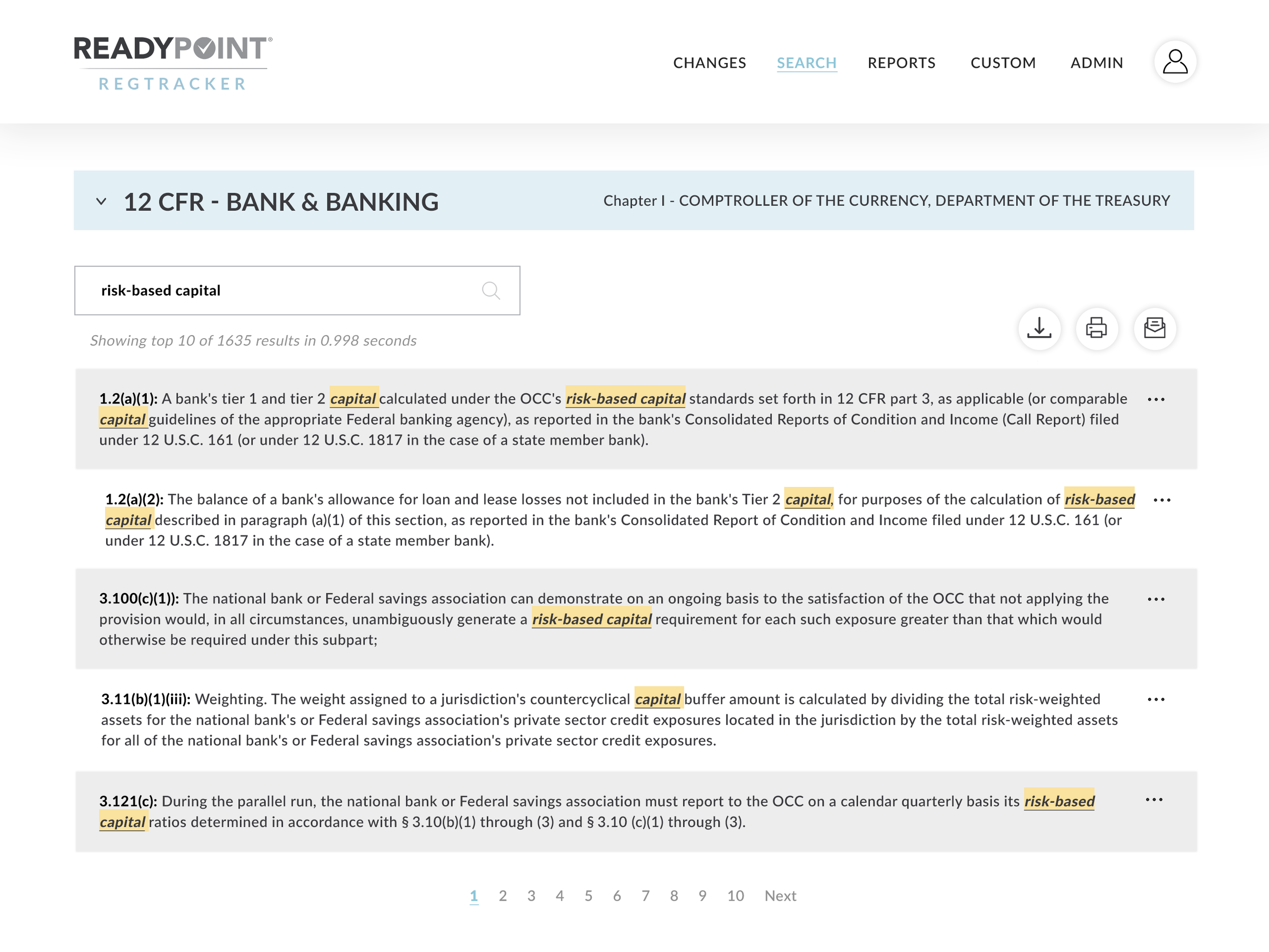 Search Through Combined Regulations - Research the most up-to-date versions with powerful keyword, phrase, or number search, or scroll through sections to follow live links, highlighted terms and other features.