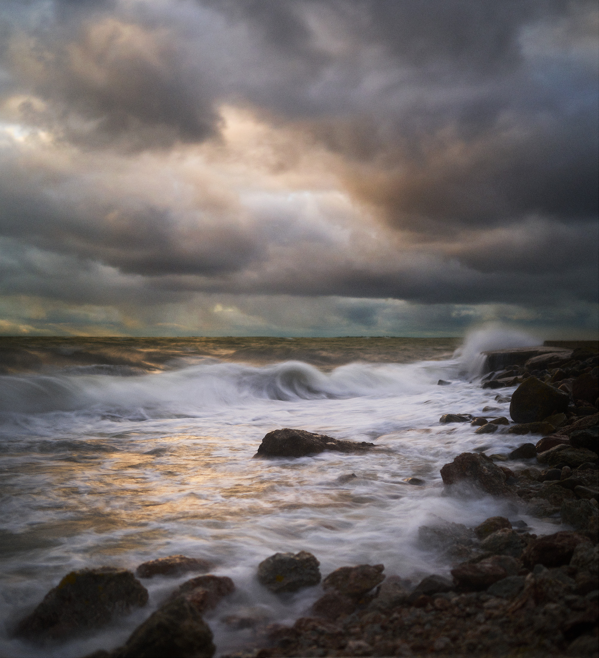 Storm i Ljugarn 60 x 65,5 cm