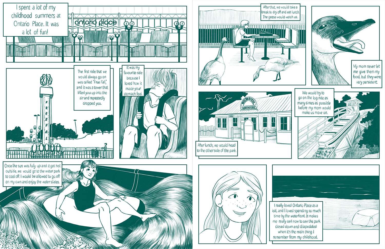 A comic based around my love for Ontario Place, located in Toronto, Ontario.