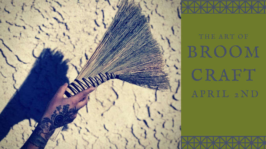 Broom making workshop with Bethany