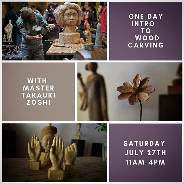 A one day workshop in wood carving: You in circle with others, your knife, and master carver Takayuki Zoshi. You'll learn the essentials needed for a life long journey in woodcarving, from technique, the essence of different woods, and form. Past class projects include mushrooms and hands, come with a project or be ready to be inspired.  Class is July 27th from 11am to 4pm. $75 per participant.  To register, please visit or call West County Herb Company at (707) 874-9567.  #woodcarving #woodsculpture #craft #folkart #knife #japaesecarving #spiritcarver #occidental #communityeducation #westcounty #sonomacounty