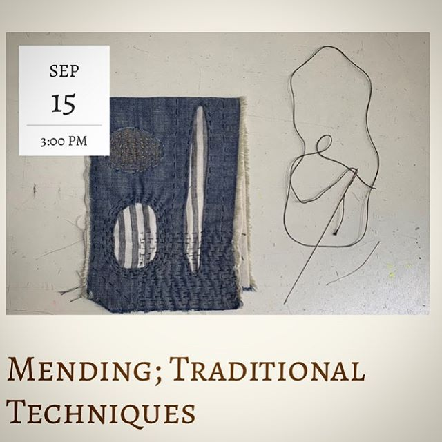We are excited to be hosting this workshop by @honeyfolkclothing, and we know all of her followers will be excited, too. This workshop will lead participants through an overview of basic sashiko and embroidery stitches before turning to a personal garment that needs repairing. Each student will receive an individual consultation on how best to mend one garment considering fabric, fiber, thread, color, lines, techniques, and more. Students will leave with a stitching sampler, mended garment (in progress), various resources. Basic sewing and stitching skills required!  To read all the details on class visit our website, or give us a ring to register for the class at (707) 874-9567.  Class is $58 and covers all materials (but not what you bring in)  #mending #traditionalmending #sashiko #denim #sewing #skills #communityeducation #needlesandthread