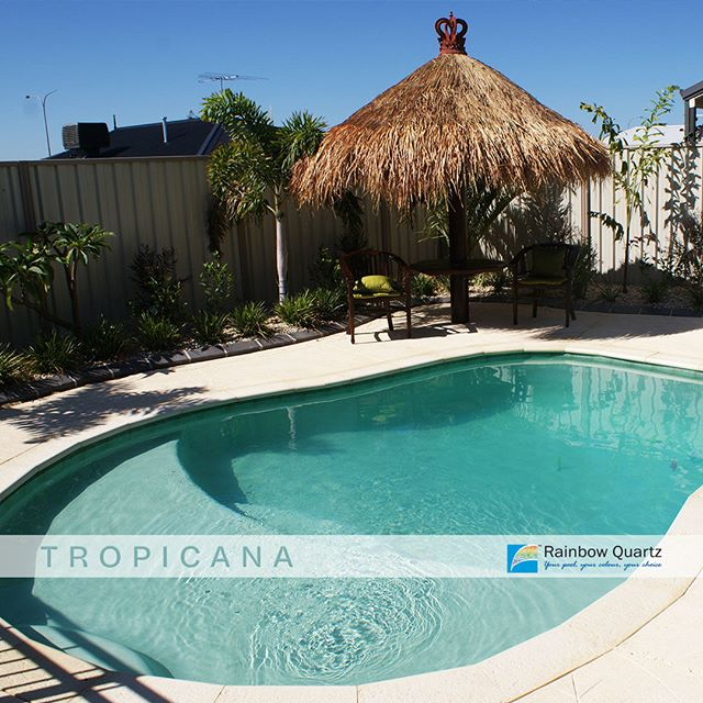 Colour focus. This is our Tropicana quartz plaster. Let us help you choose a pool colour that makes the most of your space! ... #rainbow_quartz_aus #pool #sparkle #clean #colours #colourful #blue #swimming #swim #inspiration #getinspired #transformation #colourfocus #rainbow #RainbowQuartz #Quartz #plaster #stylish #keepitsimple #tropicana