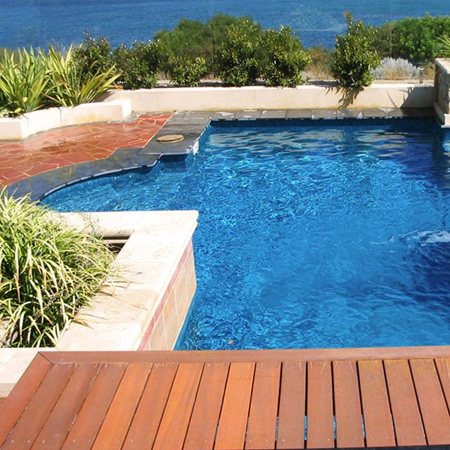 Even a stunning location can be improved by a pool... Our Cosmic Blue quartz plaster takes this plunge pool to a whole new level of beautiful ... #rainbow_quartz_aus #swimmingpool #water #swimming #splash #love  #pooltime #build #workmanship #newbuild #resurface #quartzpool #smooth #beautiful #oriental #cosmicblue #design #location #divein
