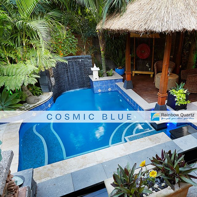 Colour focus. This is our Cosmic Blue quartz plaster. Let us help you choose a pool colour that makes the most of your space! ... #rainbow_quartz_aus #pool #sparkle #clean #colours #colourful #blue #swimming #swim #inspiration #getinspired #transformation #colourfocus #rainbow #RainbowQuartz #Quartz #plaster #stylish #keepitsimple #CosmicBlue