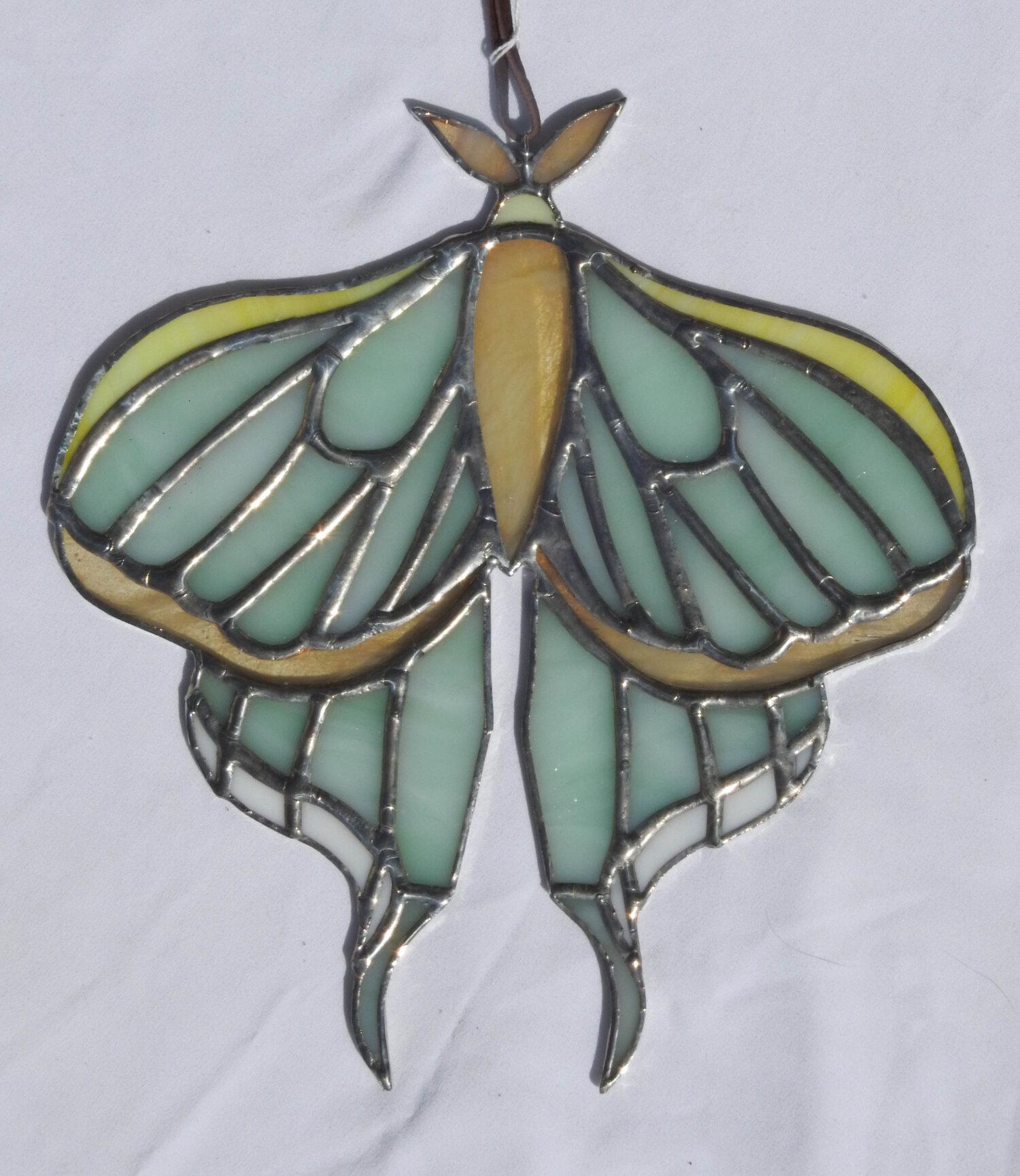 ORIGINAL WATERCOLOR Spanish Moon Moth Home Decor Moth Wall Art