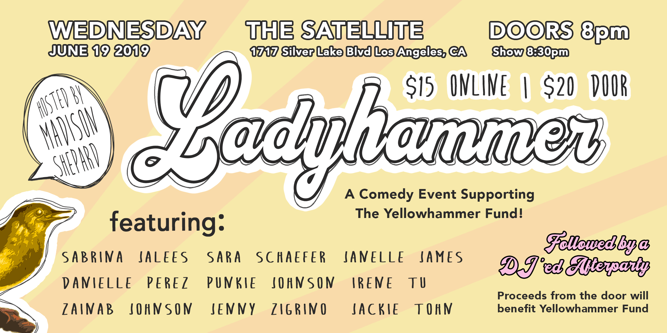 Ladyhammer: A Comedy Event in Support of The Yellowhammer Fund    → Event Producer