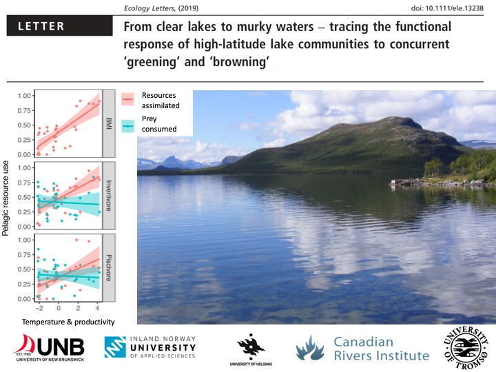 New SINALB research detailing the effects of climate change of the food webs of subarctic lakes