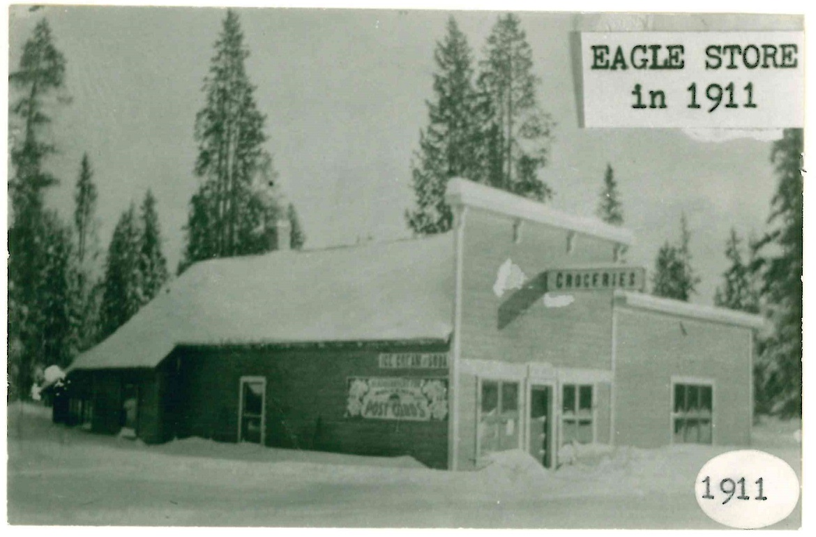 Eagle's Store covered in a layer of snow in 1910. Eagle Family Collection.