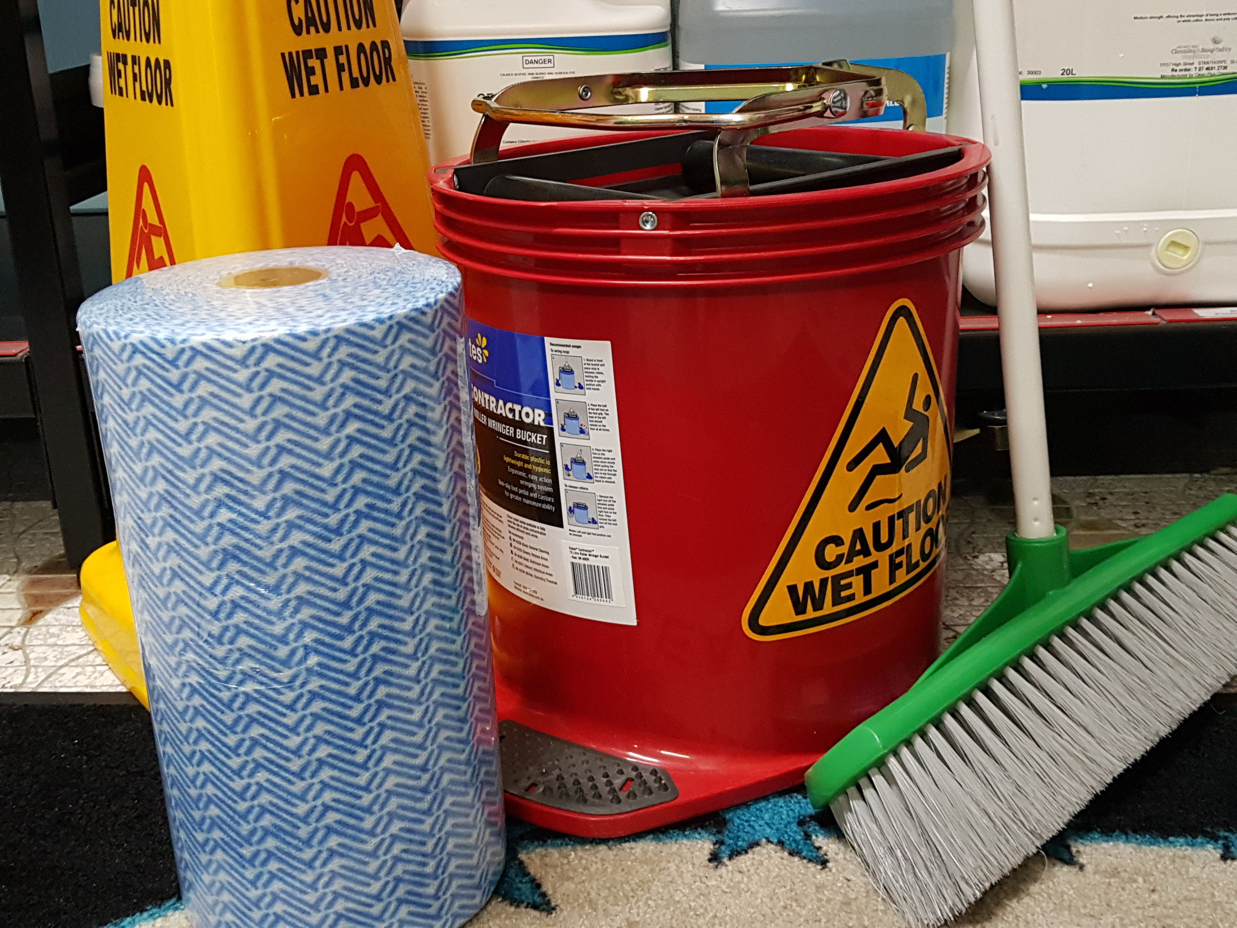 Cleaning Supplies - Got a mess to clean up?We have an extensive range of products available in store and we are happy to place orders to suit your needs.To help us help you:Please click on the supplier links below to access product catalogues. When you find what you're after note the item codes. Please email us with your selected codes and the quantity you're interested in purchasing. We will contact you promptly with prices and availability.If you'd prefer, simply call our friendly staff on 07 4681 2738Visit our supplier's sites:OatesSabcoEdco