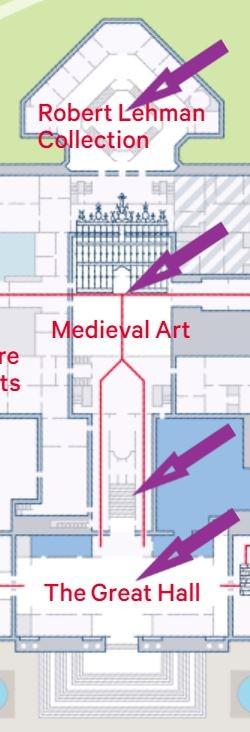 Museum map snippet. Image © The Metropolitan Museum of Art