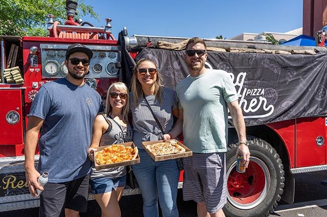 """Like the old timey saying goes, """"A pizza event brings a week of content."""" That's been seen on some HomeGoods throw pillows right? 🍕🍕Did you pizza this weekend? . . . . #dangbrotherpizzaaz #phxfoodtruck #phxfoodscene #supportlocalphx #woodfiredpizza #sundayfunday #phxpizza"""