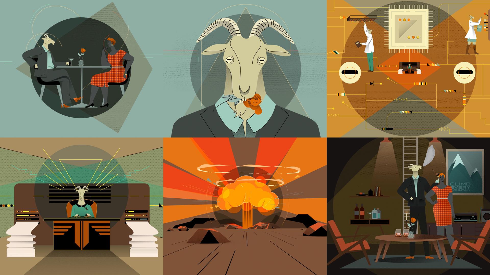 Capricorn keyframes by  Lilian Darmono