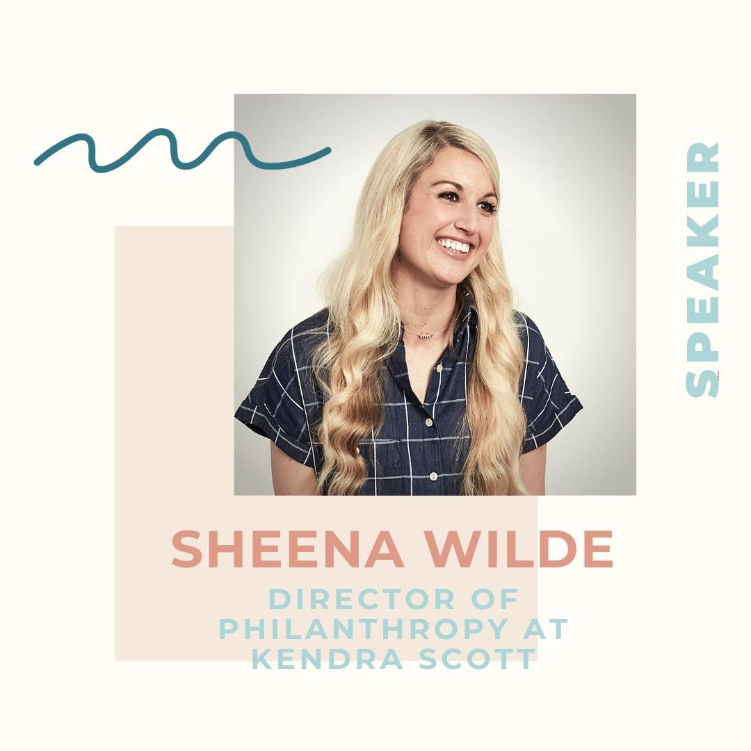 As the Director of Philanthropy at Kendra Scott, Sheena Wilde believes in the Kendra Scott mantra that giving back is the truest form of success. Sheena is in charge of strategy and implementation for all of Kendra Scott's philanthropic partnerships and programs nationally. As a wife and proud mother of three, Sheena, along with the Kendra Scott family, visualize and strive for a world where women and children can live their brightest and healthiest lives, which has led to philanthropic partnerships with organizations such as the Breast Cancer Research Foundation, MD Anderson Child Cancer Center, Children's Miracle Network, and Ronald McDonald House Charities. In 2018 alone, Kendra Scott was able to host more than 10,000 philanthropic events, donate $5.1 million, make $9.1 million in in-kind donations, and cultivate more than 8,000 philanthropic partnerships.