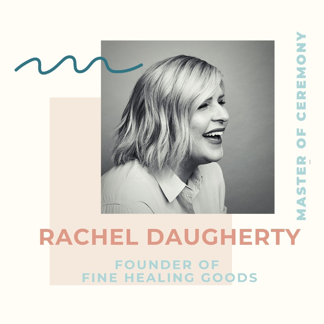 Rachel Daugherty began her career in corporate sales with Apple. In 2006, she founded her first company, R Carter Consulting,  before earning her MBA from St. Edwards University. A true entrepreneur, after graduating, she opened the first day spa in Austin to offer CBD services in 2016. This led her to her latest venture,  Fine Healing Goods,  a line of premium cannabinoid wellness products. Launching at SXSW in March, the line has since been in SAKS in NYC and online at  Anthropologie.com . Additionally in 55 Anthropologie retail stores, and fine retailers across the country. Rachel has found herself on a mission to educate others to remove the stigma surrounding cannabis. Additionally, Rachel has now become an advocate, both for women in the cannabis industry and underrepresented groups who are facing criminalization for possessing, or selling the same plant that she uses in her own products. Rachel's mission, Profits with a Purpose, is part of her ongoing effort to decriminalize CBD by donating to nonprofits, like National Bail Out. Rachel resides in Georgetown with her husband and daughter, who was just born in August.