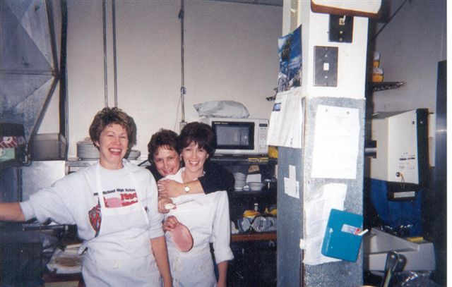 Nancy and her sisters Judy and Sue. This is the small -short kitchen that I have since modified.