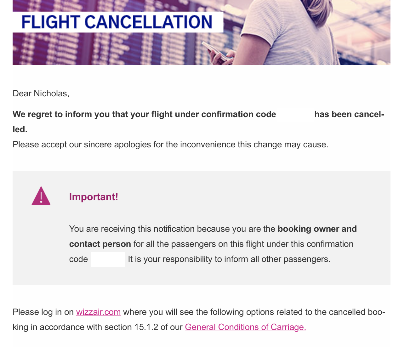 Refunding a Canceled Wizz Air Flight — DISTANT POINTS