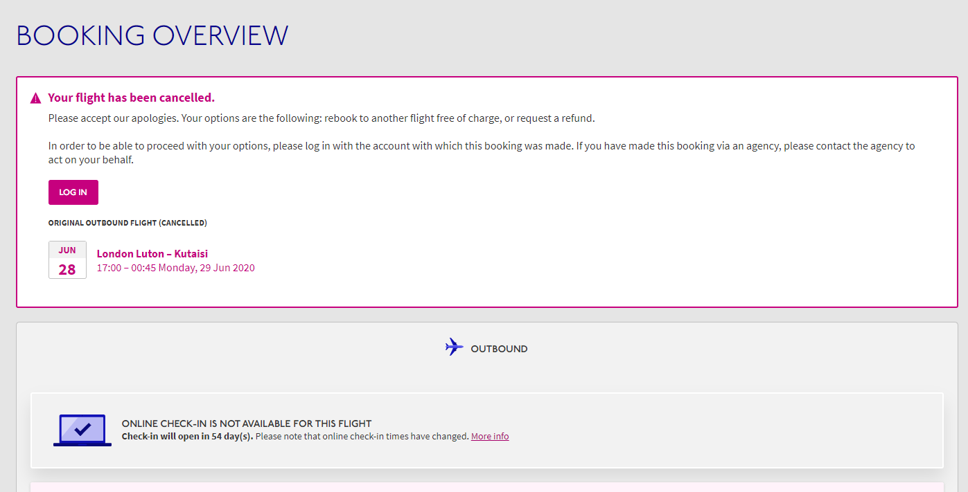 Refunding A Canceled Wizz Air Flight Distant Points