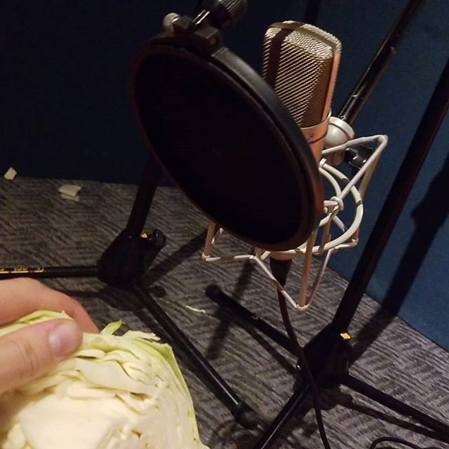 Does your school let you destroy fruit & veggies and record the audio? Mine does! . . . . . . . . . . #producer #audioengineer #cato #bassmusic #dj #soundfx #sounddesign #cabbagecracks #goresounds #moviefx #foleyartist #stayinschool #wublin #morethenadj #allaudioallday