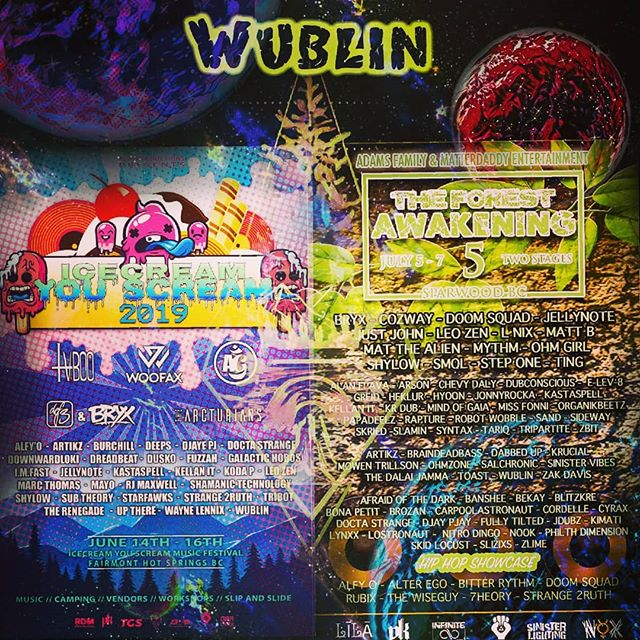 Super stoked to be apart of these two banging festivals with massive line ups on both! . . . . . . #wublin #wubblethefunk #pk #bass #funk #canadiandj #producer #turntablest #glitch #bc #bassmusic #farimont #farwood #audioengineer #homiejam