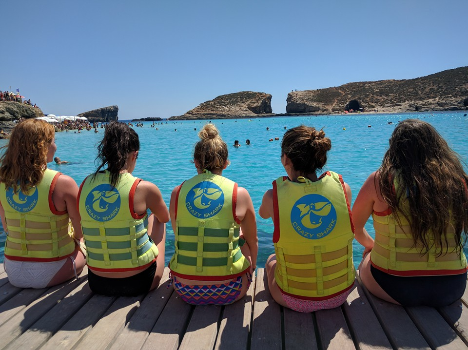 The girls from home when they visited me on our trip to Comino