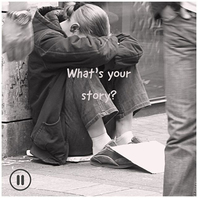 At what point in her life did she decide to write a note on a piece of cardboard and go to the street? #what'syourstory? #thecirclestory