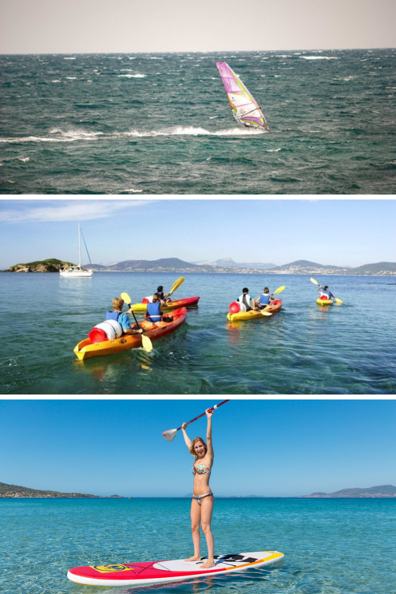 WATERSPORTS & YOGA Camp - 7 days - 6 nights1x welcome sunset paddle session6x nights individual rooms im premium bungalow 4* camping5x yoga session on the beach - focus enhanced sport practice1x Wakeboard inititation1x Windsurf initiation1x Kayak initiation1x Paddle initiation1x Joker repetition (Windsurf-Kayak or Paddle)1/2 pension in restaurant Les Pieds dans l'EauArrival Sunday 16h departure saturday morning 10h
