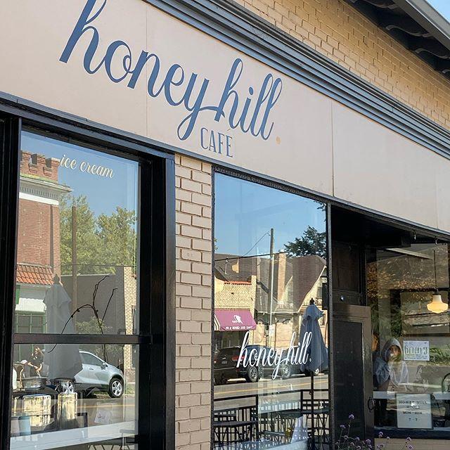 Checking out our awesome tasty neighbors Honey Hill Café. Banana Toast is amazing! @honeyhilldenver #parkhilldenver #eatlocal #thegreat80238 #bananatoast