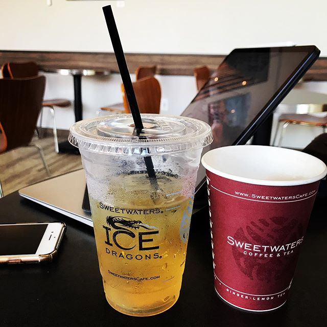 Another nice spot to work and enjoy some delicious drinks and treat in The Great 80238. #thegreat80238 #stapletondenver #sweetwaterscoffeeeandtea #coffee #icedgreentea #workinontheweekend
