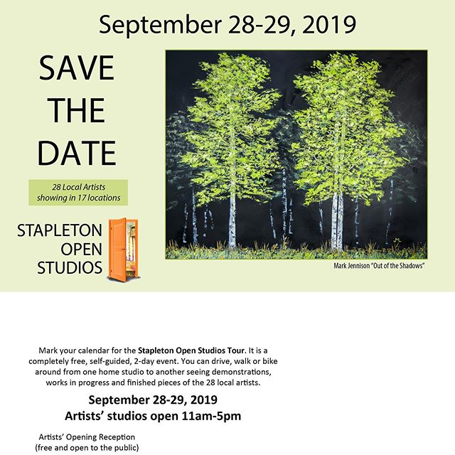 Go check out some of the awesome artists that help make up The Great 80238 this weekend.  #thegreat80238 #stapletondenver #stapletonopenstudios #localartists #denvercolorado