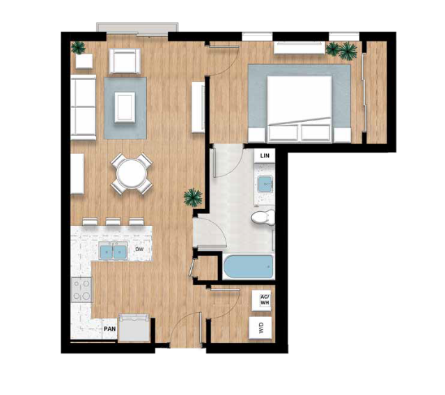 The Ringling - 1 bed, 1 bath | 767 sq.ft.